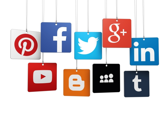 Social Media Logotype On Tags