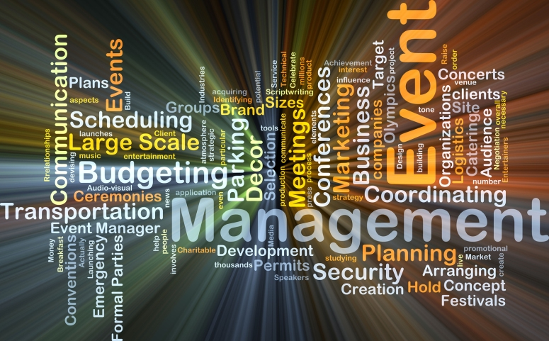 Background concept wordcloud illustration of event management gl