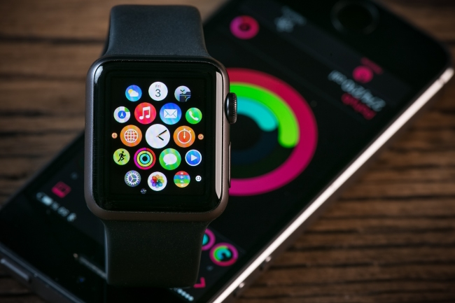 PRAGUE, CZECH REPUBLIC - June 22, 2015: Close-up of Apple Watch.
