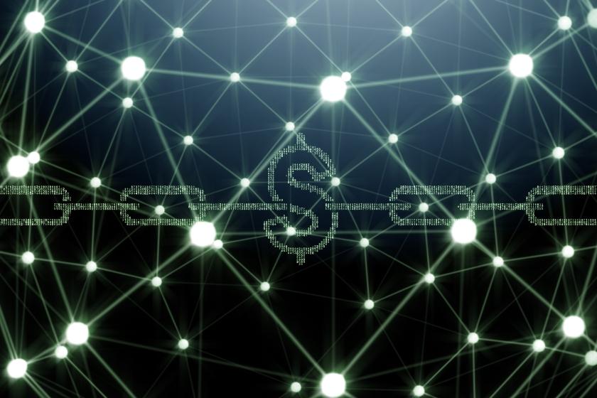 Blockchain concept as futuristic idea of database - 3d rendering